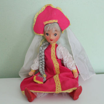 Russian Traditional National Costume Doll, Folklore, Ethnic Doll, Collectible Home Decor