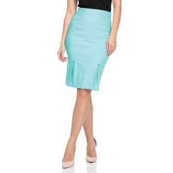 Nicole Kick Pleate Pencil Skirt
