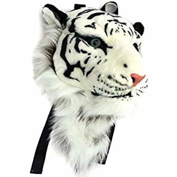 VIAHART Authentic Tigerdome White Siberian Tiger Animal Head Backpack and Wall Mount | Shipping from Texas