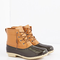 Brown Lace-Up Duck Boot
