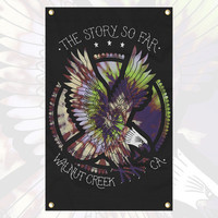The Story so Far - Tie Dye Eagle Wall Flag