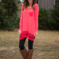 Always & Forever Sweater, Coral
