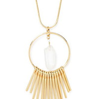 Fringed Faux Crystal Necklace