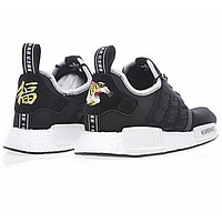 Adidas NMD R1 Reflective shoelace Fashion Trending Running Sports Shoes