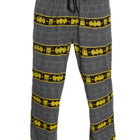 Batman Fair Isle Unisex Lounge Pants - Grey,