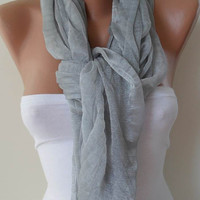 Light Grey Elegance Shawl / Scarf by SwedishShop on Etsy