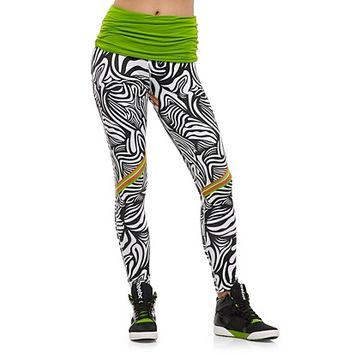 Reebok Women's Fire It Up Zebra Legging Pants | Official Reebok Store