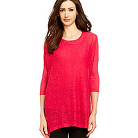 Investments Petite Scoopneck Tunic Top - Hot Pink