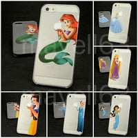 Disney Princess Clear Phone Cover Hard Case iPhone Samsung iPod 4S 5S 5C 6 S5 S6