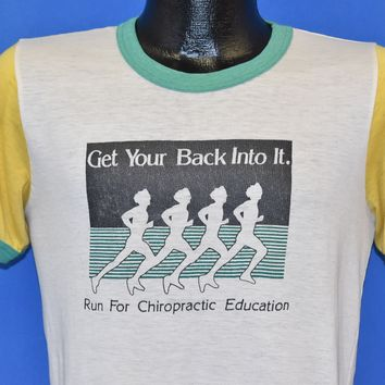 80s Run for Chiropactic Education t-shirt Small