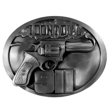 Sports Accessories - DonÕt Dial 911 Antiqued Belt Buckle