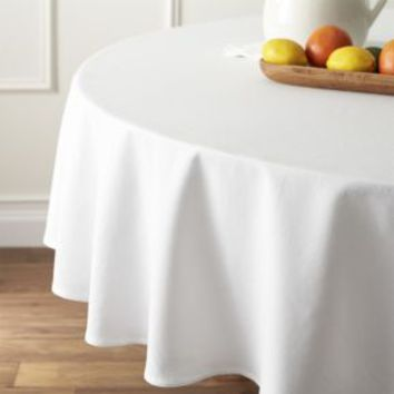 """Abode 90"""" Round Tablecloth"""