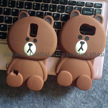 3D Cute Cartoon Bear Soft Silicone Protective Back Cover Case For Samsung Galaxy S3 S4 S5 S6 edge Note 3 4 5 A5 A7 A8 G530 J5 J7
