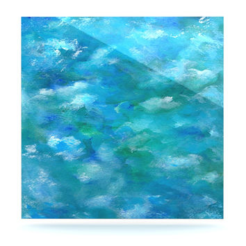 "Rosie Brown ""Ocean Waters"" Blue Aqua Luxe Square Panel"