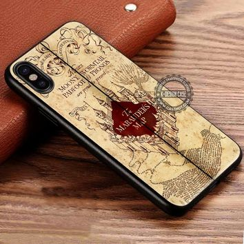 Harry Potter Marauders Map iPhone X 8 7 Plus 6s Cases Samsung Galaxy S8 Plus S7 edge NOTE 8 Covers #iphoneX #SamsungS8