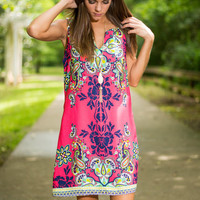 Persuade By Flattery Dress, Pink