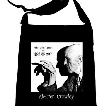 Aleister Crowley Crossbody Sling Bag Occult Witchcraft