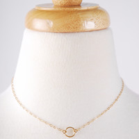 Delicate Ring Necklace