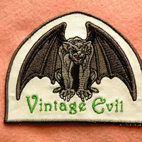 Vintage Evil Iron on Patch