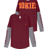 Virginia Tech University Long Sleeve V-neck Tee - PINK - Victoria's Secret