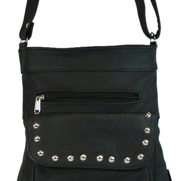 Texcyngoods Pebbled Leather Concealed Carry Cross Body Purse