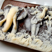 SOAP Elephants Eucalyptus Spearmint Scented by thecharmingfrog