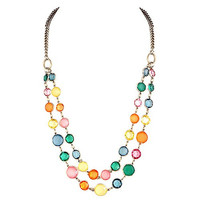 Multi Colored Layered Beaded Necklace