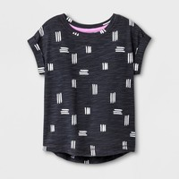 Toddler Girls' T-Shirt - Cat & Jack™ White/Charcoal