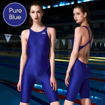 FINA Certification Fabric Women Competition Swimsuit Girl Training One-piece Swimming Suits Professional Arena Triatlon Swimwear