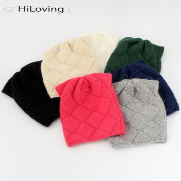 GZHiLOVINGL Cute Baby Girls Boys Kids Children Cat Ears Knitted Wool Hat 5 month- 4 Years Kids Warm Winter Beanie skullies Hats