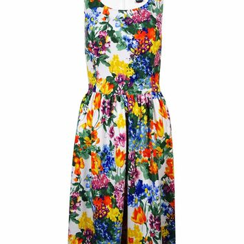 Jessica Howard Women's Floral Printed Knit Dress