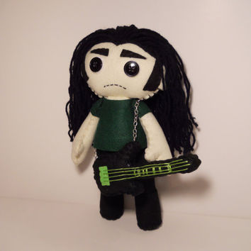 Felt Peter Steele inspired custom plush stuffed rag doll toy Type O Negative