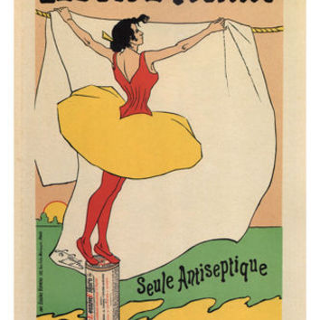 Figaro detergent VINTAGE AD POSTER léo gausson 1893 france 24X36 rare PRIZED