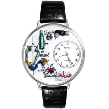 Respiratory Therapist Watch in Silver (Large)