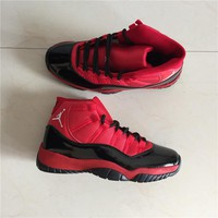 Air Jordan 11 Retro Black/Red Basketball Shoes
