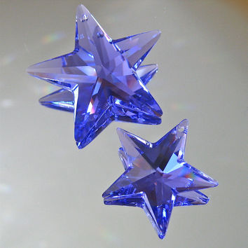 Swarovski 40mm & 28mm Blue Violet Star Prisms, logo