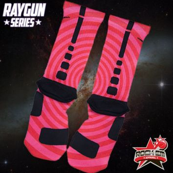 Raygun Series Custom Nike Elite Socks - Magenta | Rock 'Em Apparel