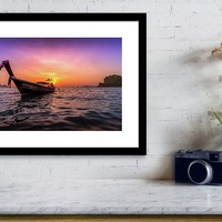 Longtail Sunset Framed Print