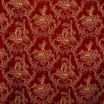 Vervain Fabric 0579405 Hamlet's Toile Red