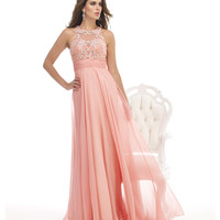Rosy Pink Flowing Gown