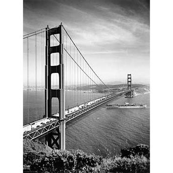 1937 Golden Gate Bridge Photo Wood Sign