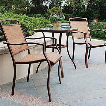 Mainstays 3-Piece Outdoor Regular Bistro Set