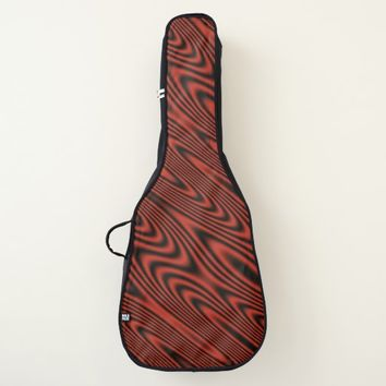 Red and Black Swirl Guitar Case