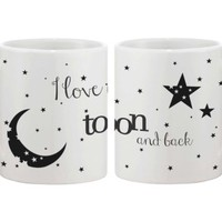 I Love You to the Moon and Back Matching Couple Mugs