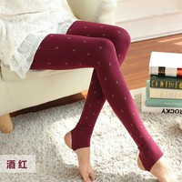 Corsair leggings Winter warm Women's Velvet leggings Fashion Slim Hemp Type Grain Pattern Leggings For Women