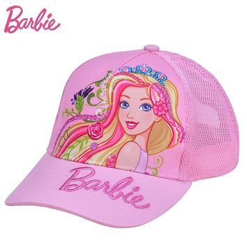 Barbie Mesh Sun Cap Snapback Caps Brand Cap for Children Kids Quick Dry Summer Gorras Casual Girls Hat Chapeau
