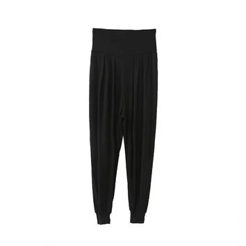 Summer High Rise Knit Stretch Pants [4919982340]