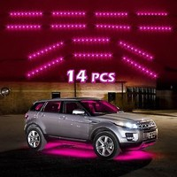 8pc Pink Car Truck Underglow Under Body Neon Accent Glow LED Lights Kit 3Mode