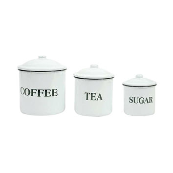 Simply Refreshing Coffee, Tea, and Sugar Canisters - Set of 3