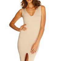 Katrina Midi Dress - Nude